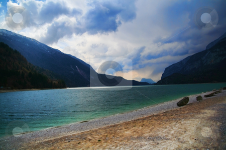 Mountain Lake stock photo, Mountain Lake Landscape - Italy Travel by Stelian Ion