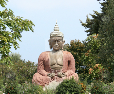 Buddha sitting in meditation stock photo, buddha sitting in the posture of Meditation by Stelian Ion