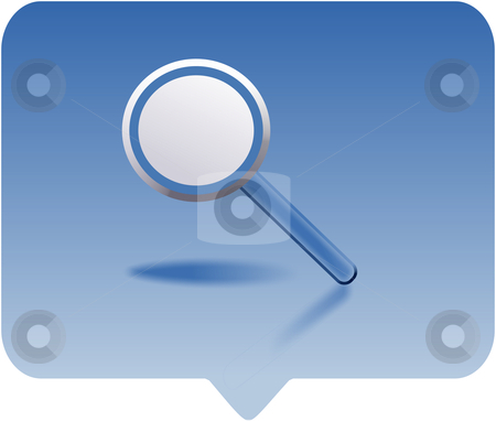 Magnifying glass stock photo, magnifying glass icon -  computer generated clipart by Stelian Ion