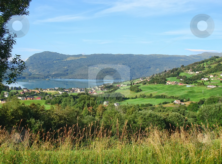 Norway Fjords stock photo, Norway Fjords and Mountains Landscape - europe travel by Stelian Ion