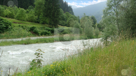Mountain River stock photo, Mountain River Landscape - Italy by Stelian Ion