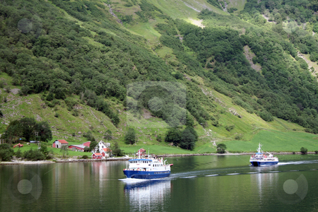 Norwegian fjords cruise stock photo, norwegian fjords - tourism europe by Stelian Ion