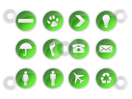 Buttons web stock photo, illustration of icons and button for the web by Sabino Parente