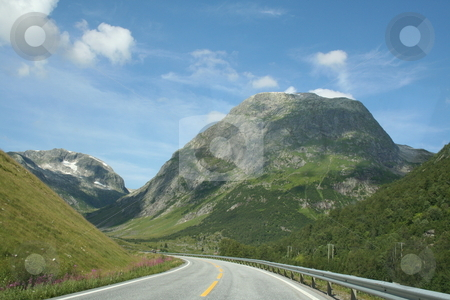 Norwegian Landscape stock photo, norwegian mountains landscape travel road by Stelian Ion