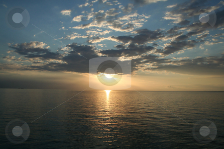Sunset stock photo, a beautiful sunset of a summer day - nord europe by Stelian Ion