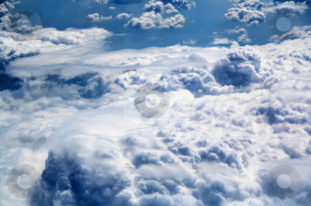 Beautiful white clouds stock photo, beautiful white clouds on blue sky background  by Stelian Ion
