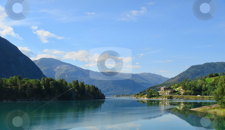 Fjords and Mountains Landscape stock photo, Norway Fjords and Mountains Landscape - europe travel by Stelian Ion