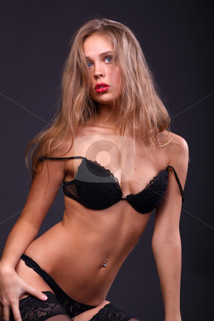 Sexy blonde woman stock photo, Sexy blonde woman, body on young female in soft light  by andersonrise
