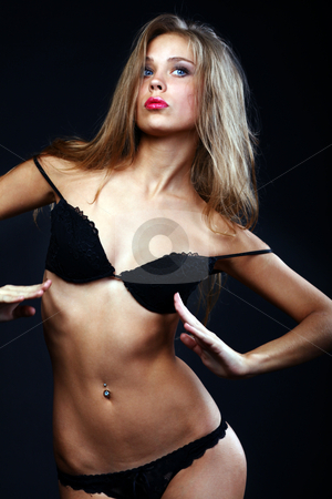Sexy blonde woman stock photo, Sexy blonde woman, body on young female in ...