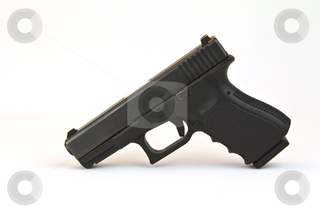 Law Enforcement Pistol stock photo, Law enforcement pistol (Black) with clip  by tab62