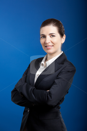 Businesswoman stock photo, portrait of a beautiful and young businesswoman  by ikostudio