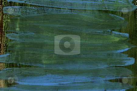 Dark green and blue canvas texture stock photo, dark green and blue watercolor painted abstract on white artist canvas, self made by photographer by Marek Uliasz