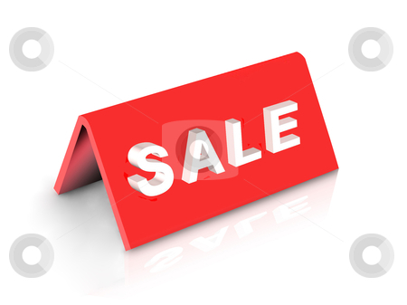 "Sale stock photo, illustration of desktop tablet word ""SALE"" on white by Rajar Reddi"