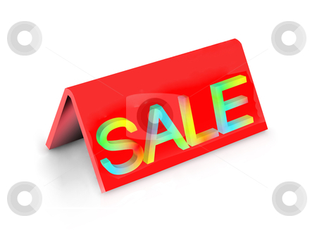 Sale stock photo, illustration of desktop tablet word &quot;SALE&quot; on white by Rajar Reddi