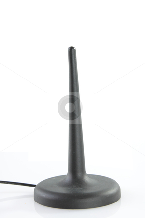 Wireless cart antena isolated stock photo, Wireless cart antena isolated on white background by Piotr_Marcinski