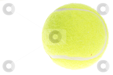 Tennis ball stock photo, Tennis ball isolated on white background by Piotr_Marcinski