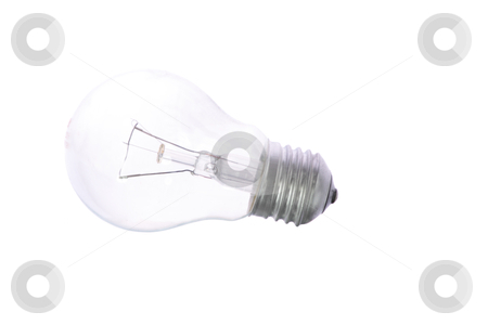 Light bulb stock photo, Light bulb isolated on white background by Piotr_Marcinski