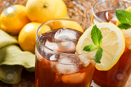 Refreshing Iced Tea stock photo, Refreshing iced tea makes a perfect drink on a hot summer day by Karen Sarraga
