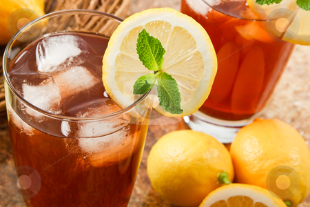 Delicous Iced Tea stock photo, Refreshing iced tea makes a perfect drink on a hot summer day by Karen Sarraga