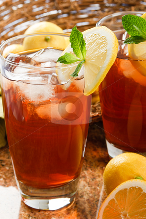 Cool, Refreshing Iced Tea stock photo, Refreshing iced tea makes a perfect drink on a hot summer day by Karen Sarraga