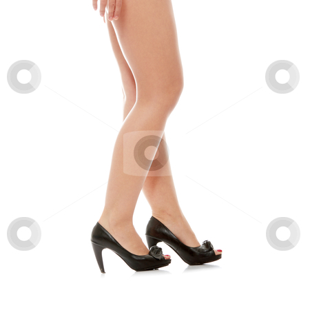 Beautiful legs in high heels stock photo, Beautiful legs in high heels, isolate on white background by Piotr_Marcinski