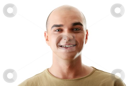 Man with happy facial expression stock photo, Man with happy facial expression isolated  by Piotr_Marcinski