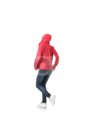 Young pop dancer stock photo, Young pop dancer, isolated on white background  by Piotr_Marcinski