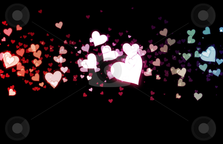 Romance Background stock photo, Romance Background with Floating Hearts as Art by Kheng Ho Toh