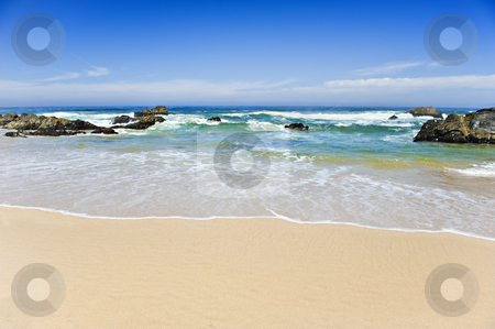 Beautiful beach on a tropical island - shallow depth of field