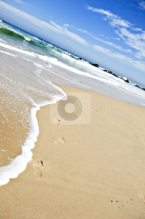 Open beach on a tropical island stock photo, Open beach on a tropical island by tish1