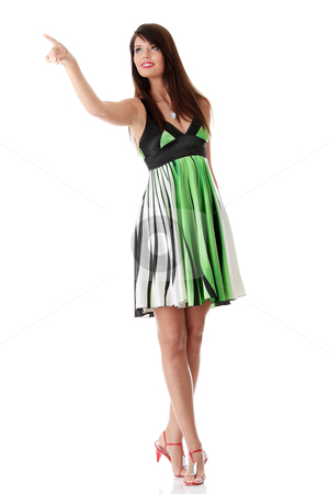 Sexy woman in summer dress stock photo, Sexy woman in summer dress, isolated on white background  by Piotr_Marcinski