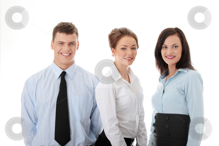 Business team stock photo, Business team isolated on white background by Piotr_Marcinski
