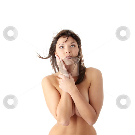 Sexy female stock photo, Sexy beautiful caucasian woman, isolted on white background by Piotr_Marcinski