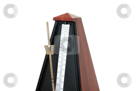 Musical metronome cutout stock photo, Musical metronome cutout isolated on white background by vetdoctor