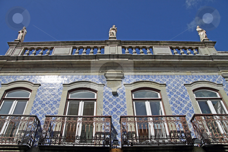 Typical house stock photo, View from a typical portuguese house, with azulejos by Neonn
