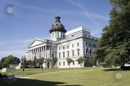 SC capital NW stock photo, Capital building in downtown Columbia, South Carolina by Lee Barnwell