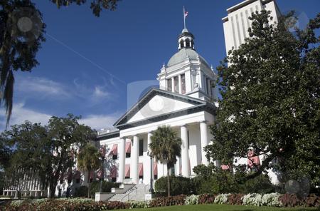 Florida capital building stock photo, old florida capital building with new complex tower by Lee Barnwell