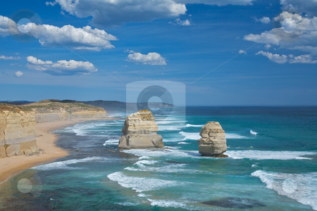 Twelve Apostles, Great Ocean Drive stock photo, Nature wonder in Melbourne, Australian. Twelve apostles sandstone formations near the Great Ocean drive in Victoria by instinia