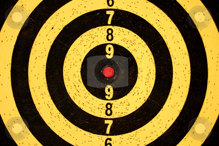 Dartboard target with numbers
