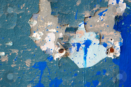 Peeling paint detail stock photo, Weathered wall peeling paint surface background detail. Abstract texture. by sirylok