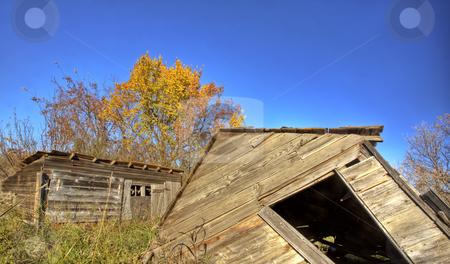 Old Rustic Granary stock photo, Old Rustic Granary storage Saskatchewan Canada by Mark Duffy