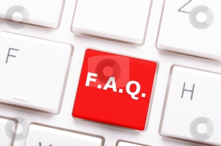 Faq stock photo, faq frequently asked questions key on computer keyboard by Gunnar Pippel