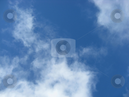 Beautiful blue sky and cloud  stock photo, Beautiful blue sky and cloud background   by Ingvar Bjork
