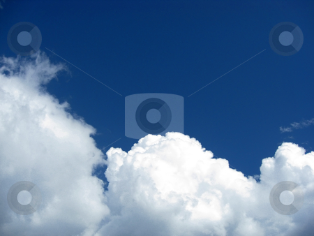 Beautiful blue sky and white cloud  stock photo, Beautiful blue sky and white cloud background   by Ingvar Bjork