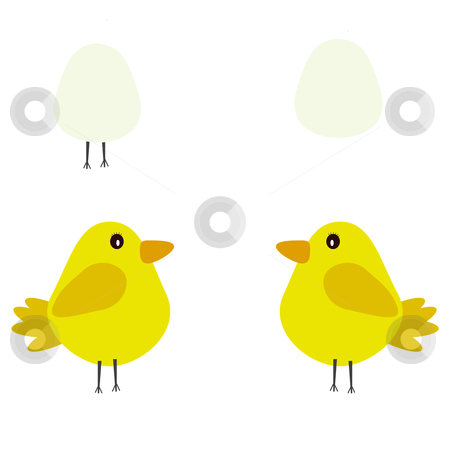 Easter illustration 2 stock photo, a cute chick /easter illustration  by lizapixels