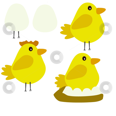 Easter illustration 3 stock photo, a cute chick /easter illustration  by lizapixels