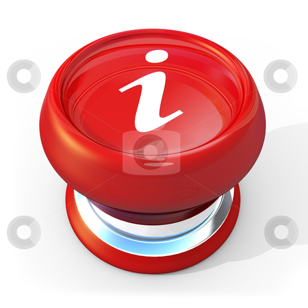 Information Button stock photo, 3d button with the letter I on it . by Konstantinos Kokkinis