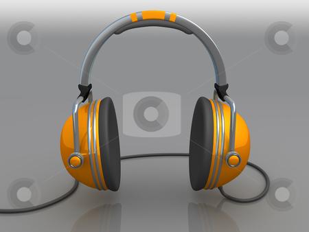 Headphones stock photo, Computer Generated 3D Image - Headphones . by Konstantinos Kokkinis