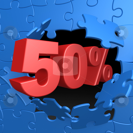 50% Off stock photo, Computer Generated Image - 50% Off . by Konstantinos Kokkinis