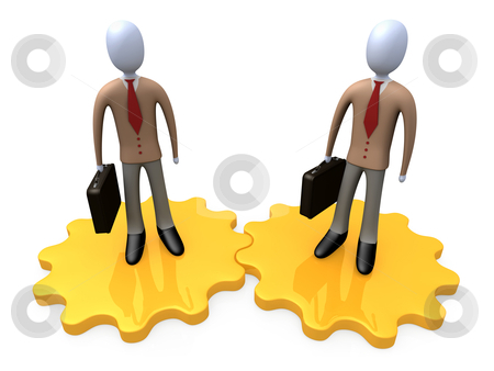 Business Partners stock photo, Computer Generated Image - Business Partners . by Konstantinos Kokkinis